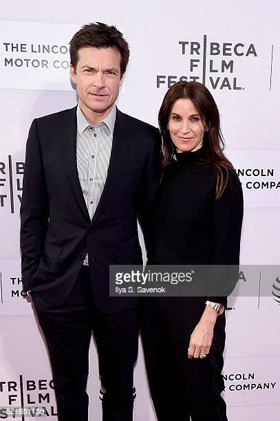 Jason Bateman and Amanda Anka attend the The Family Fang Premiere 2016 Tribeca Film Festival at BMCC John Zuccotti Theater on April 16 2016 in New...
