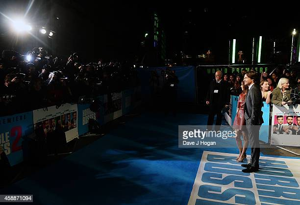 Jason Bateman and Amanda Anka attend the UK Premiere of Horrible Bosses 2 at the Odeon West End on November 12 2014 in London England