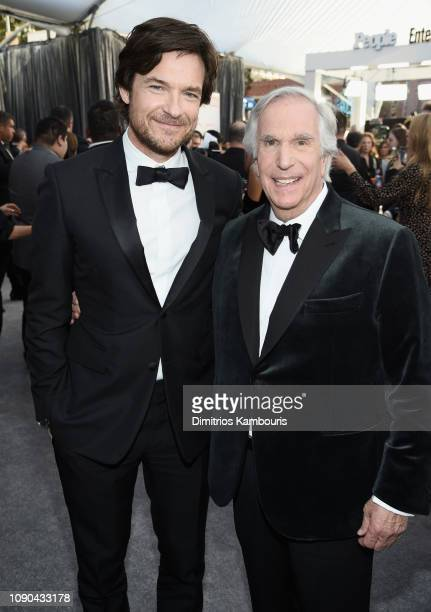 Jason Bateman and Henry Winkler attend the 25th Annual Screen ActorsGuild Awards at The Shrine Auditorium on January 27 2019 in Los Angeles...