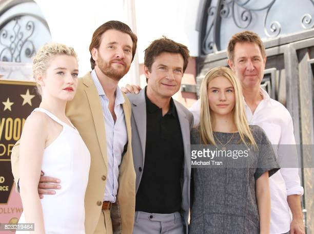Jason Bateman and his cast from the television show Ozark at the ceremony honoring Jason Bateman with a Star on The Hollywood Walk of Fame held on...