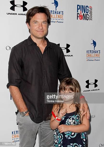 Jason Bateman and his daughter Francesca Nora Bateman attend Clayton Kershaw's inaugural ping pong 4 purpose charity event benefitting 'Kershaw's...