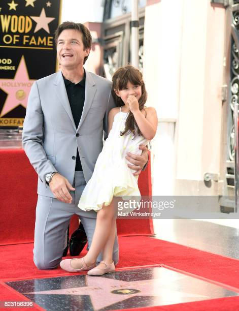 Jason Bateman and his daughter Maple Bateman attend The Hollywood Walk of Fame Star Ceremony honoring Jason Bateman on July 26 2017 in Hollywood...