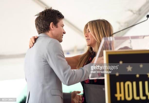 Jason Bateman and Jennifer Aniston attend The Hollywood Walk of Fame Star Ceremony honoring Jason Bateman on July 26, 2017 in Hollywood, California.