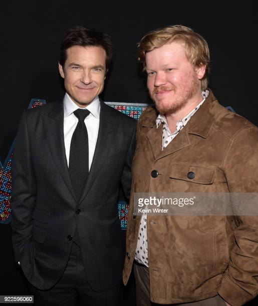 """Jason Bateman and Jesse Plemons attend the premiere of New Line Cinema and Warner Bros. Pictures' """"Game Night"""" at TCL Chinese Theatre on February 21,..."""