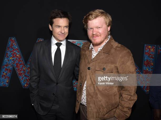 Jason Bateman and Jesse Plemons attend the premiere of New Line Cinema and Warner Bros Pictures' Game Night at TCL Chinese Theatre on February 21...