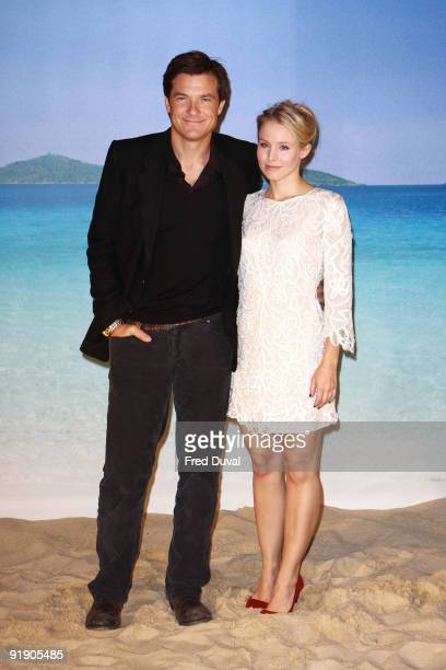 Jason Bateman and Kristen Bell attends photocall to promote 'Couples Retreat' on October 15 2009 in London England