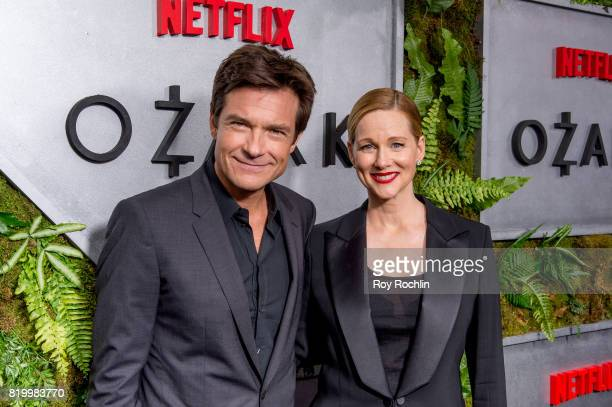 Jason Bateman and Laura Linney attends the 'Ozark' New York Screening at The Metrograph on July 20 2017 in New York City