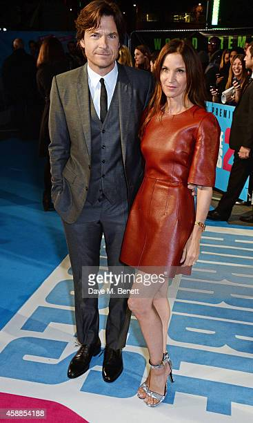 Jason Bateman and wife Amanda Anka attend the World Premiere of Horrible Bosses 2 at Odeon West End on November 12 2014 in London England
