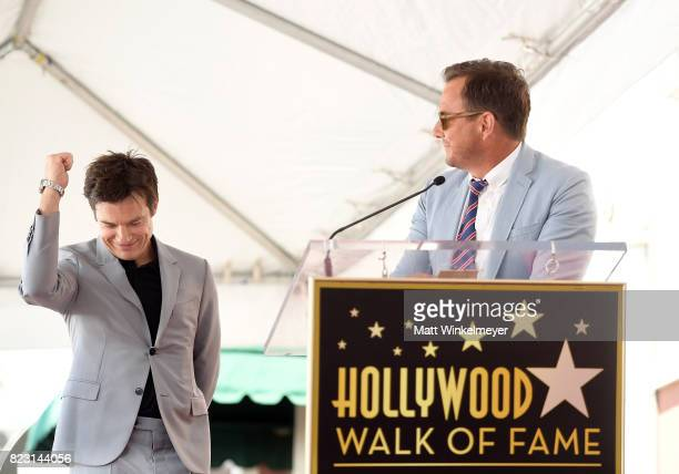 Jason Bateman and Will Arnett attend The Hollywood Walk of Fame Star Ceremony honoring Jason Bateman on July 26 2017 in Hollywood California