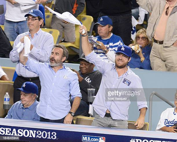 Jason Bateman attends Game Three of the National League Championship Series at Dodger Stadium on October 14 2013 in Los Angeles California