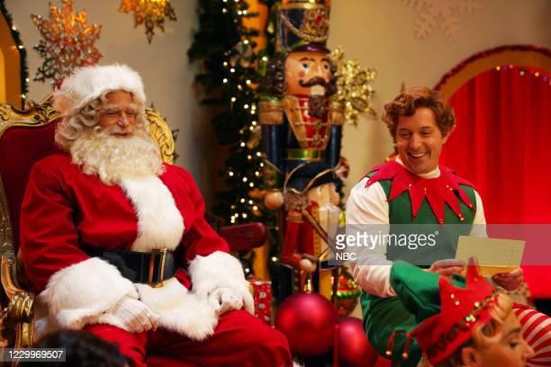 "Jason Bateman"" Episode 1792 -- Pictured: Host Jason Bateman as Santa and Beck Bennett as an elf during the ""Stu"" sketch on Saturday, December 5, 2020..."