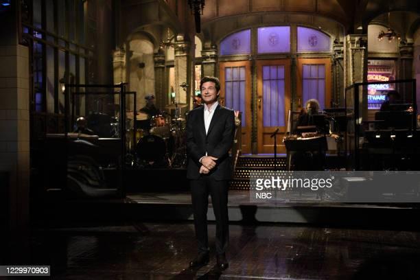 """Jason Bateman"""" Episode 1792 -- Pictured: Host Jason Bateman during the Monologue on Saturday, December 5, 2020 --"""
