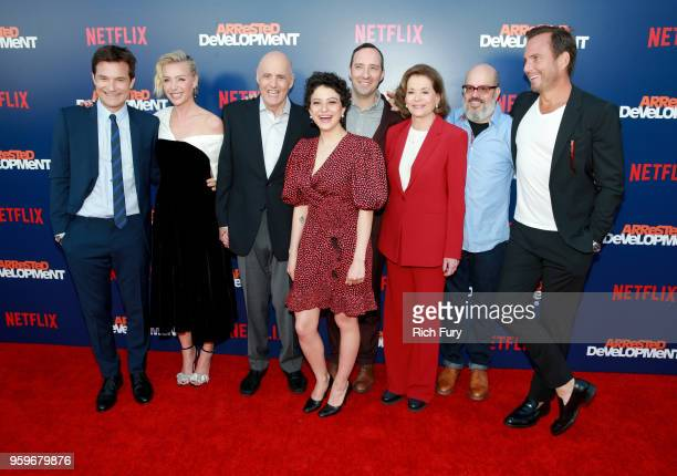 Jason Bateman Portia de Rossi Jeffrey Tambor Alia Shawkat Tony Hale Jessica Walter Tony Hale and Will Arnett attend the premiere of Netflix's...