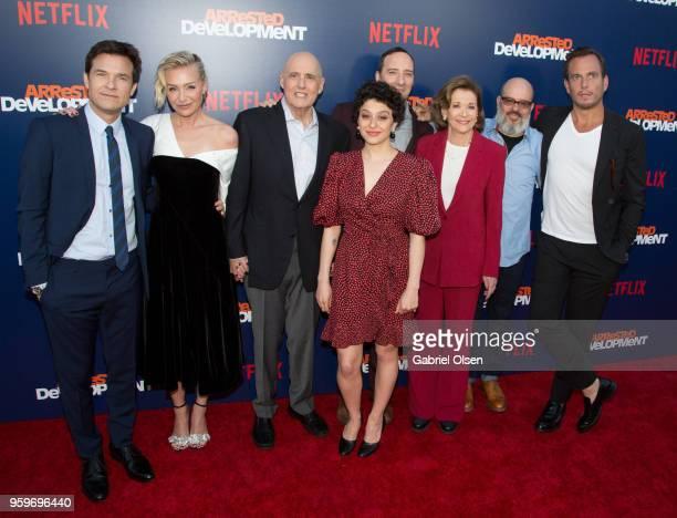 Jason Bateman Portia de Rossi Jeffrey Tambor Alia Shawkat Tony Hale Jessica Walter Tony Hale and Will Arnett arrive for the premiere of Netflix's...