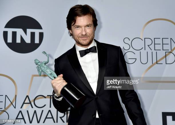 Jason Bateman poses in the press room during the 25th Annual Screen ActorsGuild Awards at The Shrine Auditorium on January 27 2019 in Los Angeles...