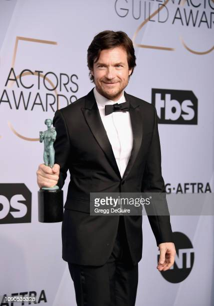 Jason Bateman poses in the press room with award for Outstanding Performance by a Male Actor in a Drama Series in 'Ozark' during the 25th Annual...