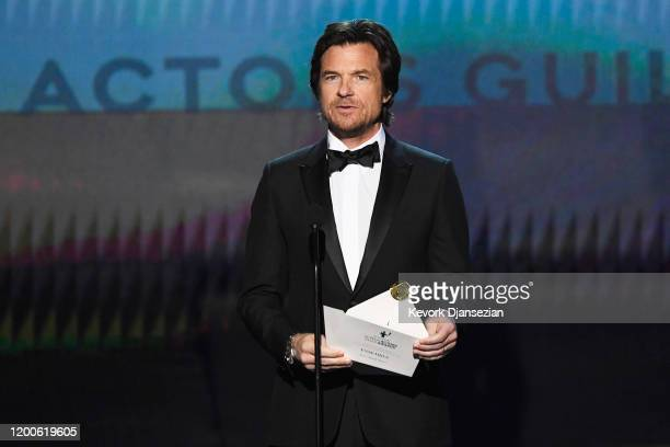 Jason Bateman speaks onstage during the 26th Annual Screen ActorsGuild Awards at The Shrine Auditorium on January 19, 2020 in Los Angeles,...