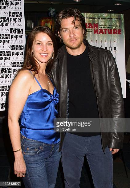Jason Bateman wife Amanda Anka during New York Premiere of Human Nature at Chelsea West Theater in New York City New York United States