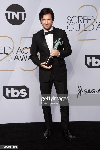 Jason Bateman winner of Outstanding Performance by a Male Actor in a Drama Series for 'Ozark' poses in the press room during the 25th Annual Screen...