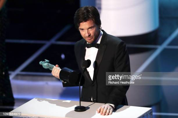 Jason Bateman winner of Outstanding Performance by a Male Actor in a Drama Series for 'Ozark' onstage during the 25th Annual Screen ActorsGuild...