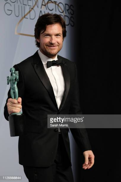 Jason Bateman winner of Outstanding Performance by a Male Actor in a Drama Series for 'Ozark' poses in the press room at the 25th annual Screen...
