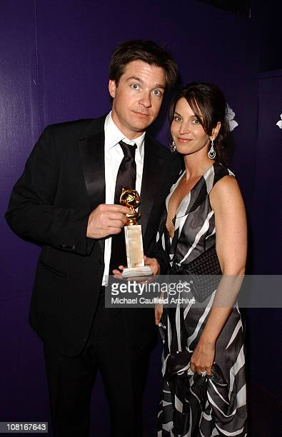Jason Batemand and wife Amanda Anka during 2005 InStyle/Warner Bros Golden Globes Party Inside at The Palm Court at the Beverly Hilton in Beverly...