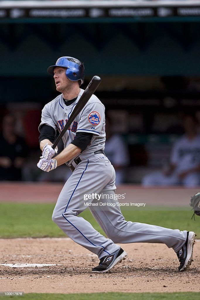 Jason Bay #44 of the New York Mets bats during a MLB game against the Florida Marlins in Sun Life Stadium on May 16, 2010 in Miami, Florida.