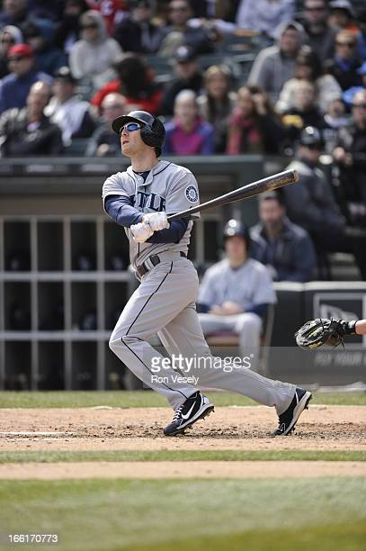 Jason Bay of the Seattle Mariners bats during the game against the Chicago White Sox on Sunday April 7 2013 at US Cellular Field in Chicago Illinois