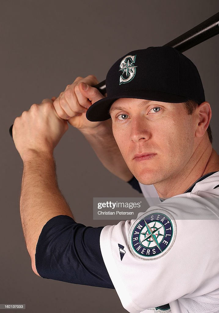 Jason Bay #12 of the Seattle Mariners poses for a portrait during spring training photo day at Peoria Stadium on February 19, 2013 in Peoria, Arizona.