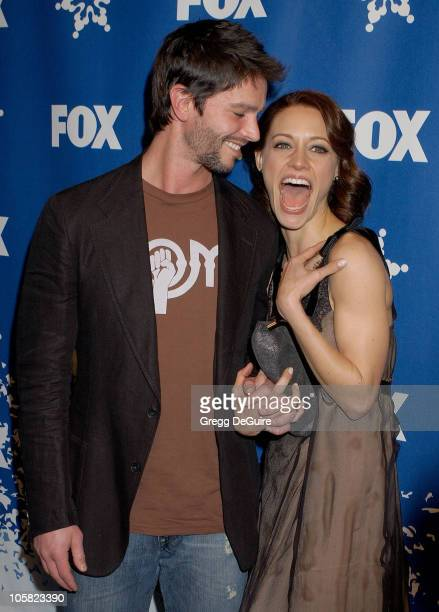 Jason Behr and KaDee Strickland during 2007 Fox AllStar Winter TCA Party Arrivals at Villa Sorriso in Pasadena California United States