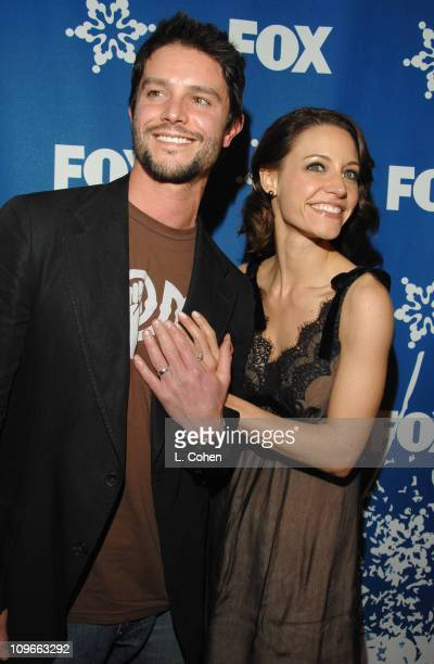 Jason Behr and KaDee Strickland during The Fox All-Star Winter 2007 TCA Press Tour Party - Red Carpet and Inside at Villa Sorriso in Pasadena,...