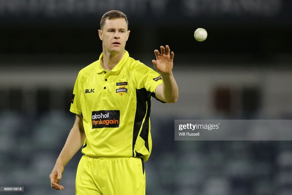 Jason Behrendorff of WA prepares to bowl during the JLT One Day Cup match between New South Wales and Western Australia at WACA on September 29, 2017 in Perth, Australia.