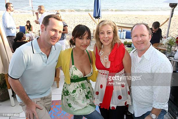Jason Bentley popular DJ at KCRW with Kahi Lee new host of HGTV's Design on a Dime and Deborah Templeton and Scott Templeton of Pietown Productions...