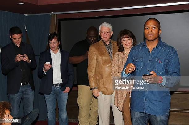 Jason Berman Tom Fore Sean Banks Malcolm Berman Sandra Berman and Sheldon Candis attend the special Miami Tastemaker Dinner and Screening of Common's...