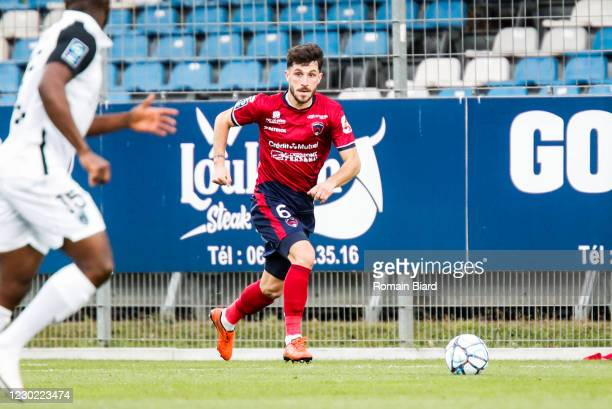 Jason BERTHOMIER of Clermont during the Ligue 2 match between Clermont Foot 63 and Paris FC at Gabriel Montpied Stadium on December 19, 2020 in...