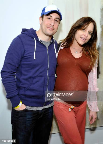 Jason Biggs and Jenny Mollen attend Art Los Angeles Contemporary Vanity Projects and A Talk with Dave Hickey on February 1 2014 in Santa Monica...