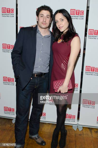 Jason Biggs and Jenny Mollen attend the after party for the opening night of Golden Age at Beacon on December 4 2012 in New York City