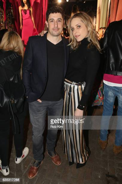 Jason Biggs and Jenny Mollen attend the alice olivia by Stacey Bendet Fall 2017 Presentation at Highline Stages on February 14 2017 in New York City