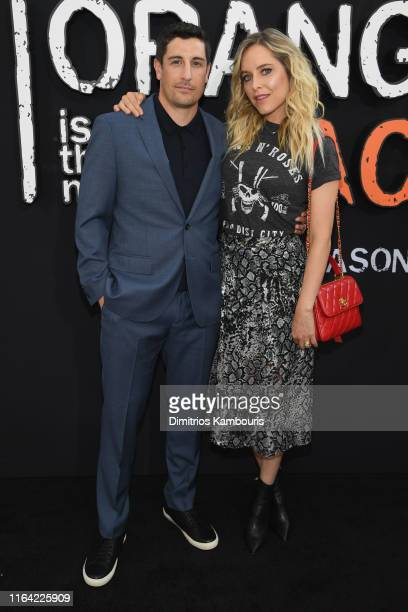 "Jason Biggs and Jenny Mollen attend the ""Orange Is The New Black"" Final Season World Premiere at Alice Tully Hall, Lincoln Center on July 25, 2019 in..."