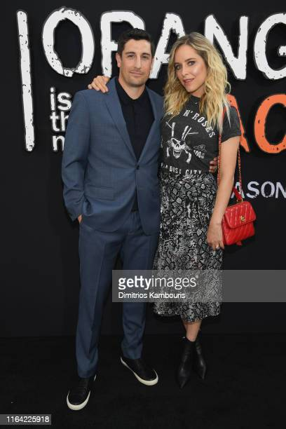 """Jason Biggs and Jenny Mollen attend the """"Orange Is The New Black"""" Final Season World Premiere at Alice Tully Hall, Lincoln Center on July 25, 2019 in..."""