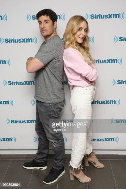 Jason Biggs and Jenny Mollen visit the SiriusXM Studios on April 23 2018 in New York City