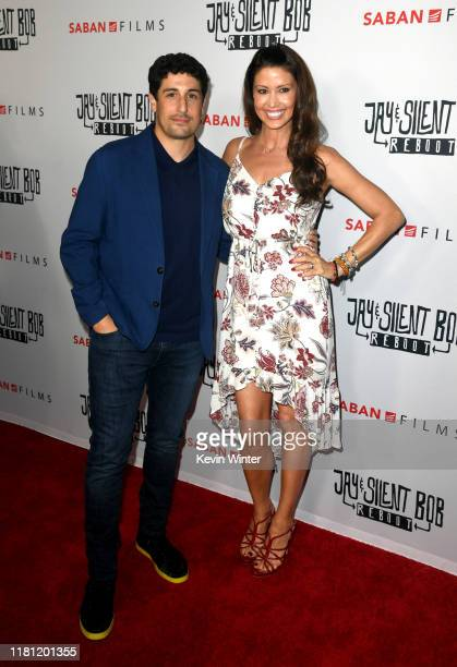 Jason Biggs and Shannon Elizabeth arrive at the premiere of Saban Films' Jay Silent Bob Reboot at TCL Chinese Theatre on October 14 2019 in Hollywood...