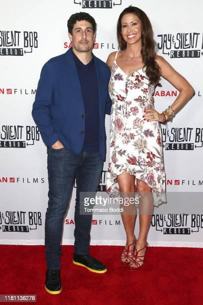 Jason Biggs and Shannon Elizabeth attend the Saban Films' Jay Silent Bob Reboot Los Angeles Premiere at TCL Chinese Theatre on October 14 2019 in...