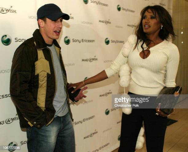 Jason Biggs and Traci Bingham during Jessica Simpson and Nick Lachey Host Sony Ericsson T610/T616 Shoot for the Stars Charity Auction for the...
