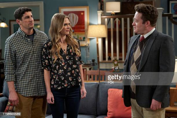 Jason Biggs, Maggie Lawson and guest star Neil Casey in the Bullying episode of OUTMATCHED airing Thursday, Feb. 13 on FOX.