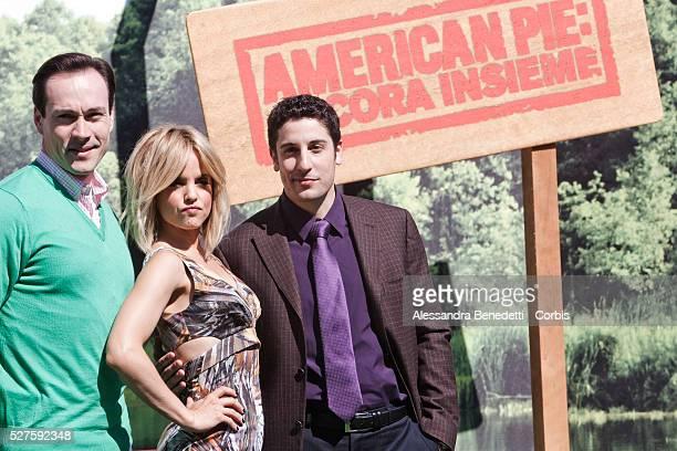 Jason Biggs Mena Suvari and Chris Klein attend the photocall of movie American Pie American Reunion