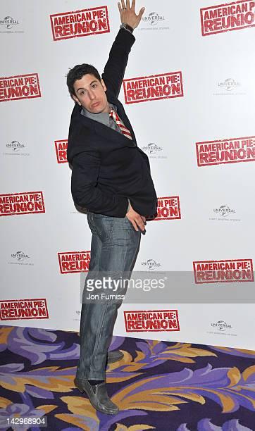Jason Biggs promote American Pie Reunion on April 16 2012 in London England