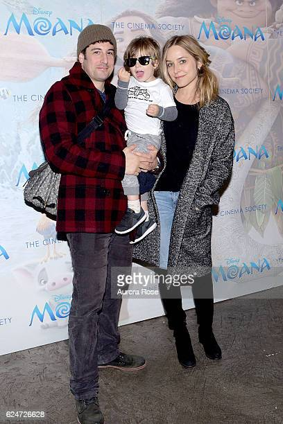 Jason Biggs Sid Biggs and Jenny Mollen attend Disney The Cinema Society Host a Special Screening of Moana at Metrograph on November 20 2016 in New...