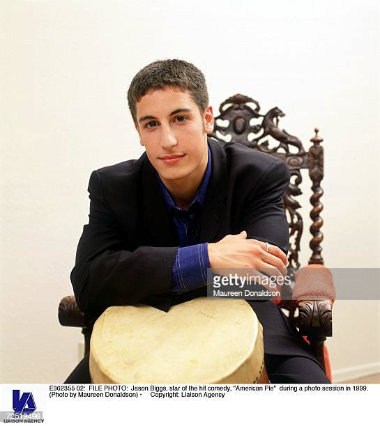 Jason Biggs star of the hit comedy American Pie during a photo session in 1999