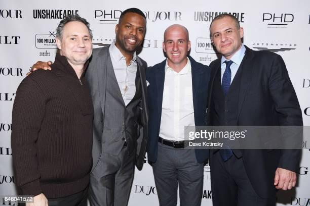 "Jason Binn, A.J. Calloway, Jonathan Greller and Ronn Torossian attend Tony Robbins' Birthday celebration and book launch of ""UNSHAKEABLE"" presented..."